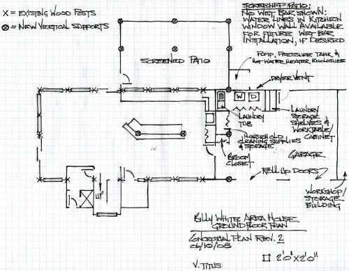 Suggested floorplan - ground floor